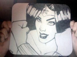 Wonder Woman Mouse Pad by Dre0083