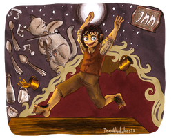 Prancing Frodo XD by Deathlydollies13