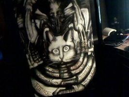 H.R. Giger Behemoth Tribute by PatsyofString