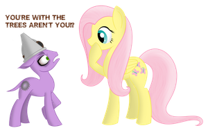 Timberpony and Fluttershy by Xyotic