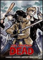 TWD - Glenn, Michonne, and Rick by aimo