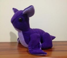 Purple Baby Wyvern Dragon Plushie by x0xChelseax0x