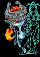 Midna - shadow of myself by KeyshaKitty