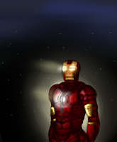 Iron Man- Coloured sketch thing. by blugrl