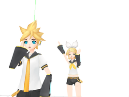 PD models Len and Rin by 1KaitoShion