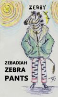 Zebadiah Zebra Pants by Katy133