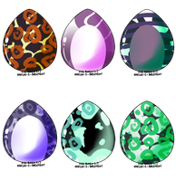 [6/6 CLOSED] Cat Egg Batch Adoptable by WarFursAdoptables