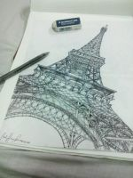 Eiffel tower by phadXXI