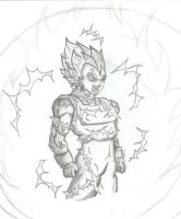 Vegeta Destruction by guitarrock111