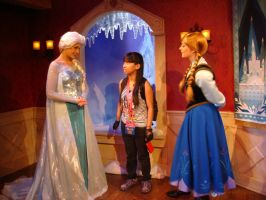 My first meeting with Queen Elsa and Princess Anna by Magic-Kristina-KW
