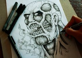 Colossal Titan Sketch by TheFreaksWorld
