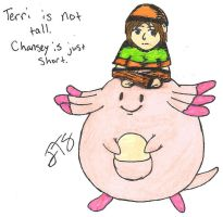 Trainer Terri and Chansey by SeaGoatInk