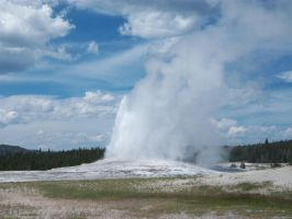 Old Faithful, Yellowstone National Park by Raptorguy14
