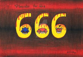 Thanks for the 666 Pageviews by ZeffraSphinx