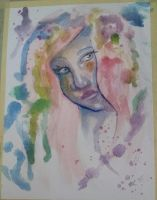Plum Girl in Watercolor by AluminumSunset