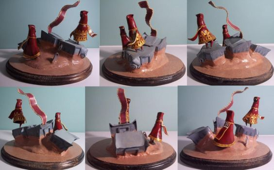 Journey sculpture, I'll Lead You by Krinkee