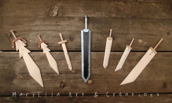 Mini Swords - 4 mm thick plywood by MithriLady