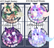 Kitsunet Adoptable Batch (SOLD) by Miizue