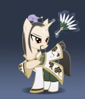 Zhuge Liang Pony by FighterAmy