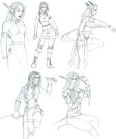 sketchies. by Horus-Goddess