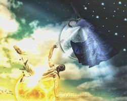 And we meet in the sky by MLeighS-DigitalArt