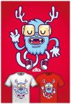 Cute Monster Tee Design 3 by cronobreaker