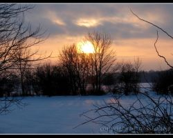 Winter Sunset by missi-alicja