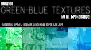 Textures - GreenBlue by lilbrokenangel