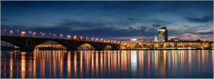 Night panorama of Krasnoyarsk by box426