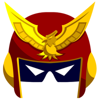Captain falcon helmet by MagicMushroomTony