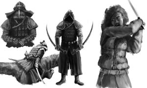 Mongol Warrior Concepts by Robjenx