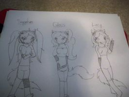 Gloss, Sapphire and Lucy (WIP) by BerrystarLover