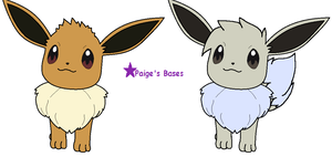 Amie Eevee bases of 2 different styles by Paige-the-unicorn