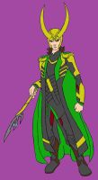 God of Mischief Colored by Axel-Knight