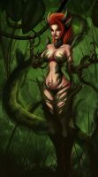 Fan art League of Legends Zyra by DareShi