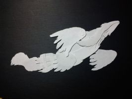 Reshiram Papercut by Swadloon