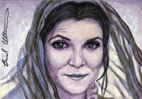 Michelle Fairley as Catelyn Stark sketch card by therealbradu