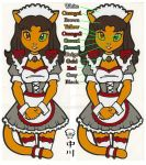 Catgirl Maid Sticker by cattoy-bn