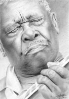 B.B. King Pencil Drawing by GraphiteFaces