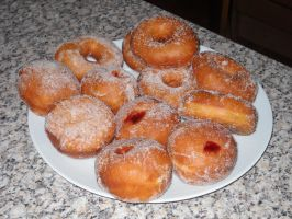 Jam and Ring doughnuts by Bisected8