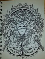 Henna Drawing - The Queen by spirit0407
