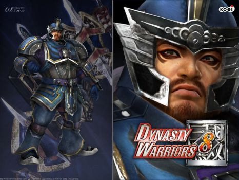 DW8 Wallpaper - Cao Ren by Koei-Warrior