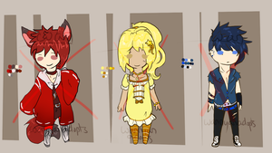 Primary Colour Adopts (Closed) by WanNyanAdopts