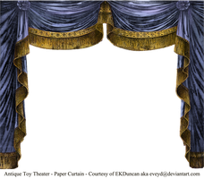 Paper Theater Curtain Saphire by EveyD