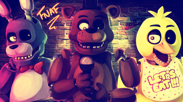 [FNAF SPEEDPAINT] THE BAND by YumeChii-NI