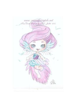 Aquarelle Ange by Nailyce