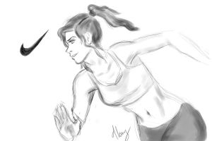 Korra for Nike by must-luv
