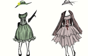 Two Dresses by FinnishVampire