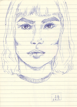 Face Sketch by allyfromearth
