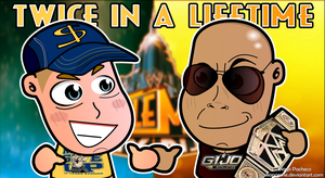 John Cena x The Rock - WM29 WWE Chibi Wallpaper by kapaeme